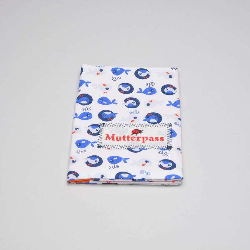 Mutterpass Motiv Fische blau