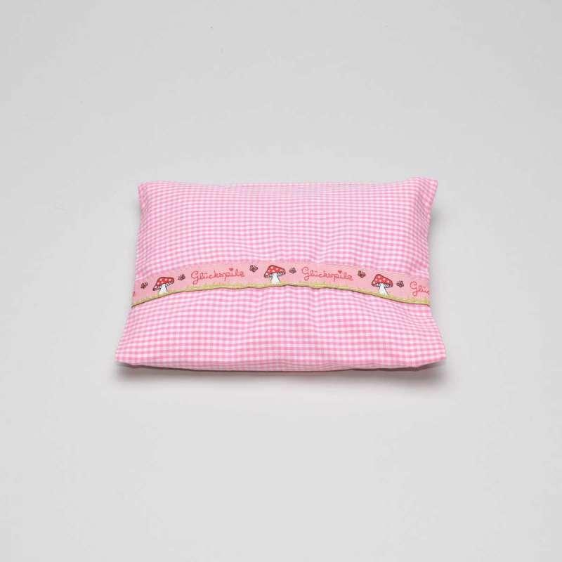Bauchweh-Kissen rosa Glückspilz