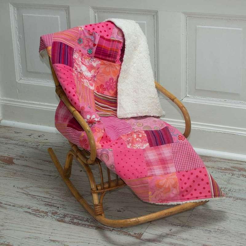 Patchwork-Krabbeldecke pink