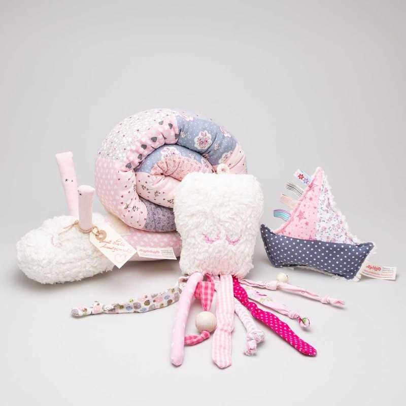 Bundle in rosa-grau