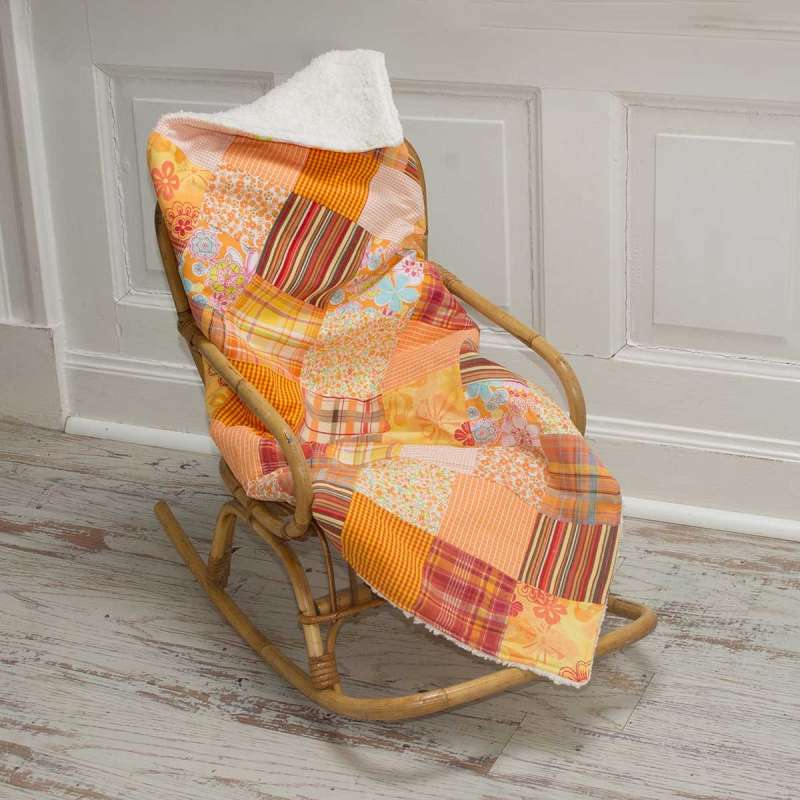 Patchwork-Krabbeldecke orange