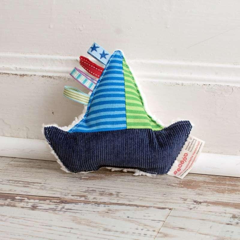 Öko-Willi als Schiff in blau